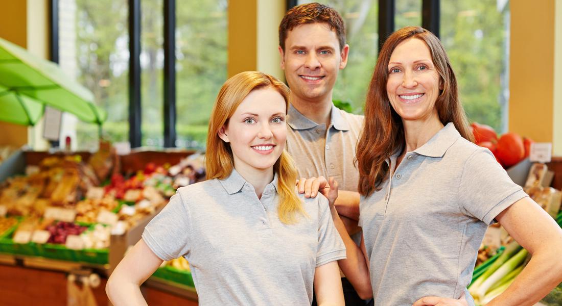 Arbeitskleidung Supermarkt