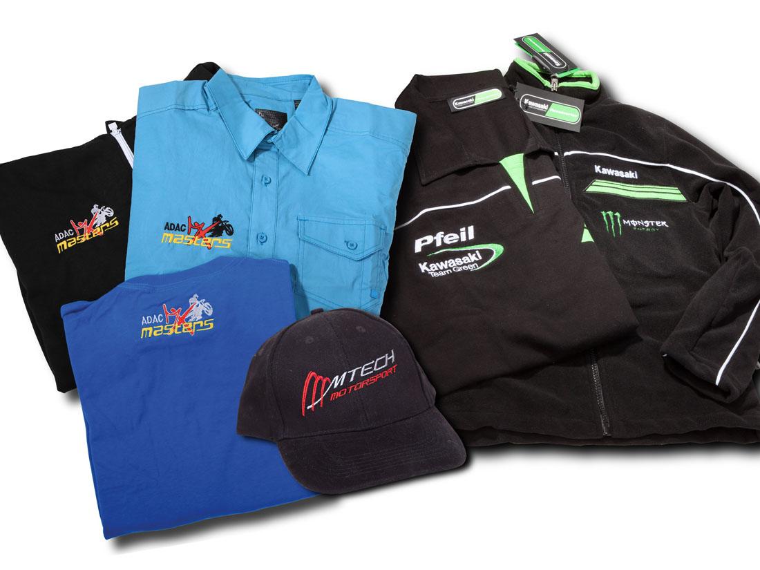Bestickte Vereinsbekleidung: Jacken, Hemden, T-Shirts sowie Softshelljacken mit Ihrem Vereinslogo